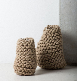 tribal crochet vase large