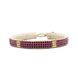 fine bracelet miyuki beads the box pink