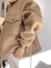 short oversize coat camel