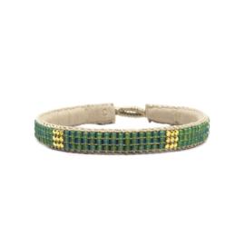 fine bracelet miyuki beads the box green