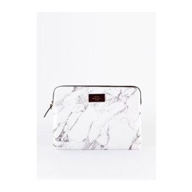 Macbook sleeve 'White Marble'