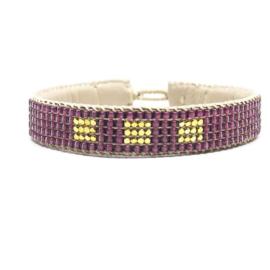 bracelet big block pink
