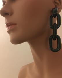 statement earrings green