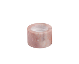 pink tealight holder marble