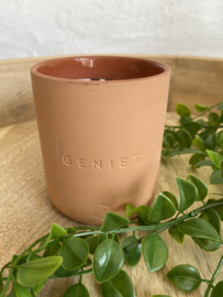 outdoor candle terracotta 'geniet'