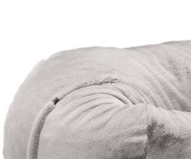 beanbag faux fur grey L