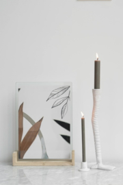 candle holder swan leg white