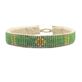 friendship bracelet one flower green