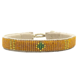 friendship bracelet one flower orange