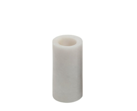 white large marble candle holder