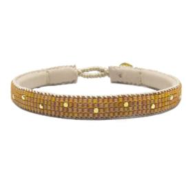 single wrap bracelet the dots orange