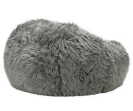beanbag flokati grey L
