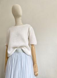 double layer silky skirt light blue