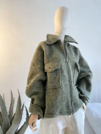 short oversize coat kaki