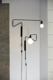 wall lamp swing black 70cm