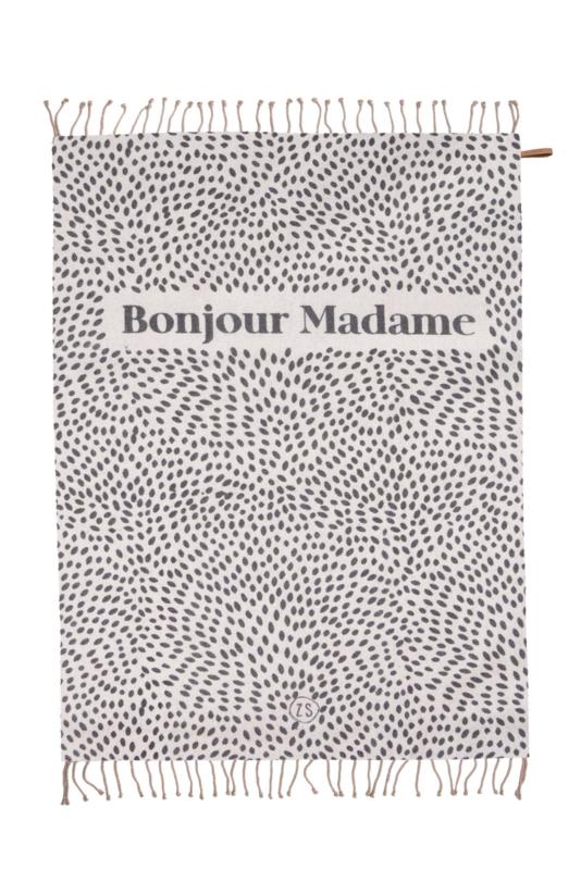 plaid 'bonjour madame'
