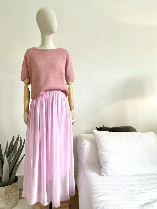 double layer silky skirt sorbet