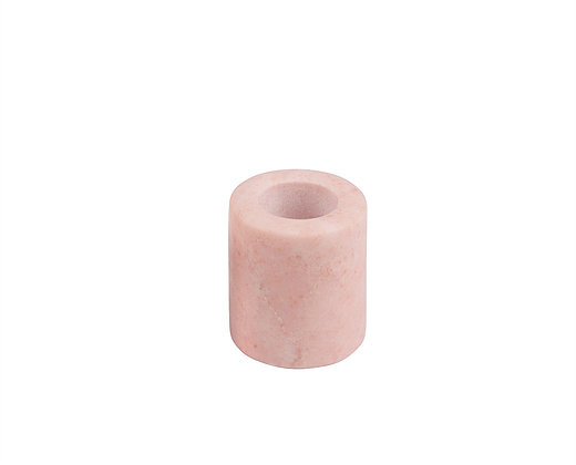 pink small candle holder