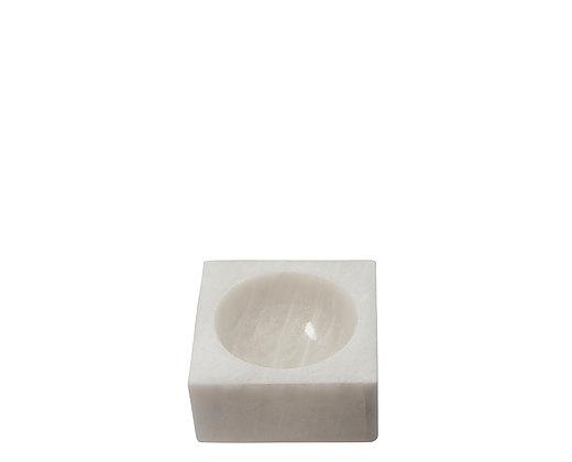 white marble block bowl