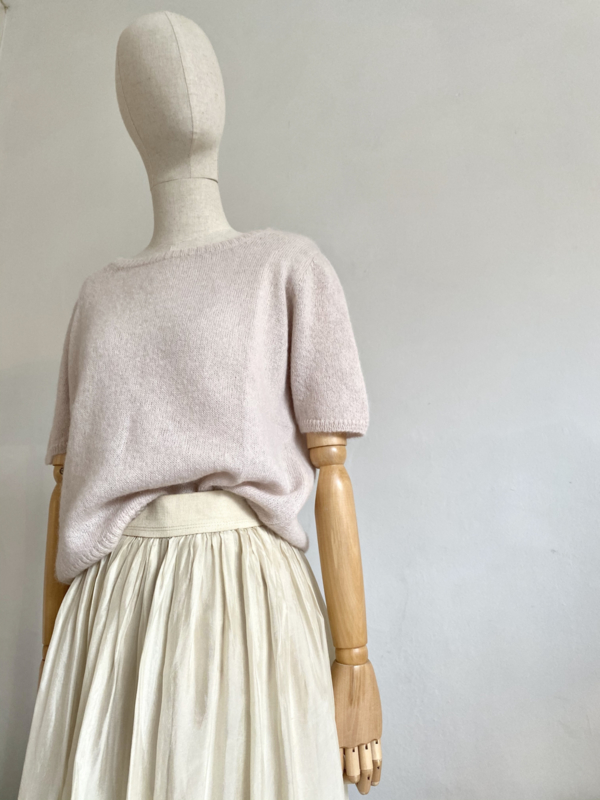 sand short sleeved sweater