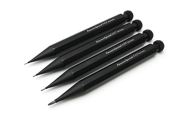 kaweco special push pencil 'S' short black 0,7