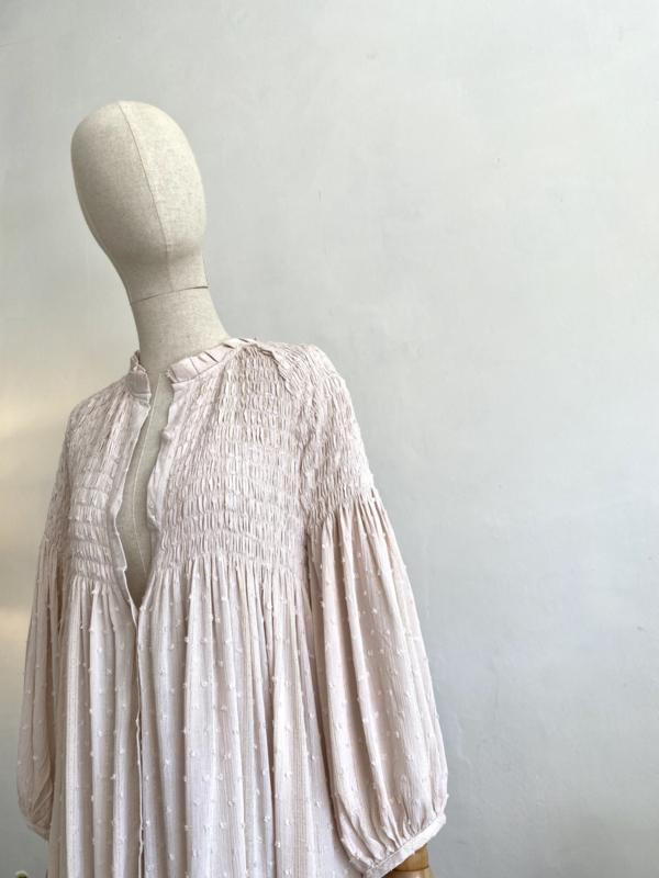 smock dress off white