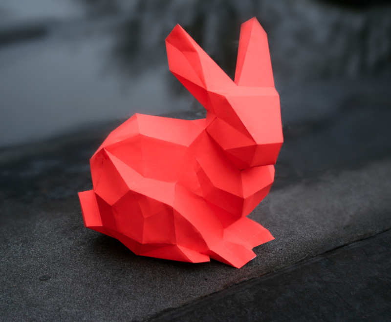 DIY paper kit bunny