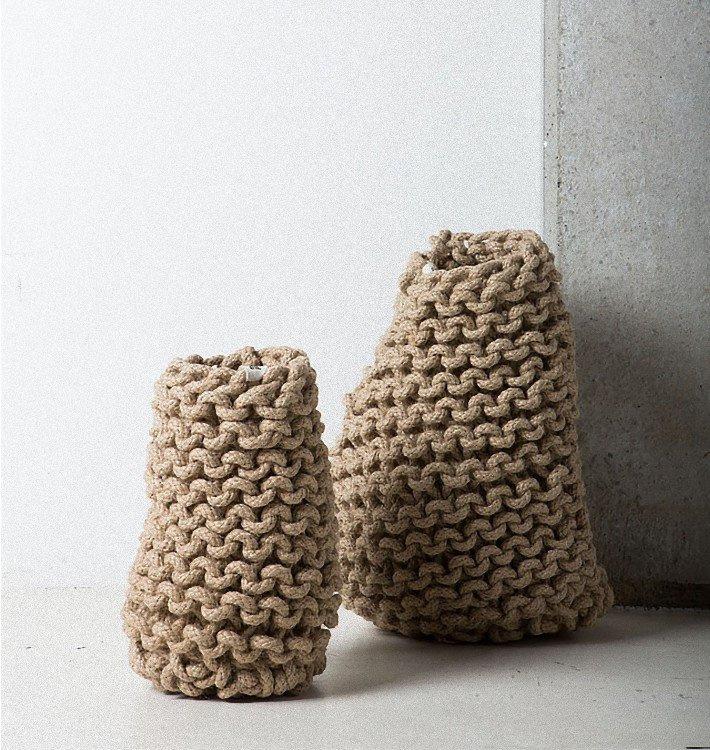 tribal crochet vase large