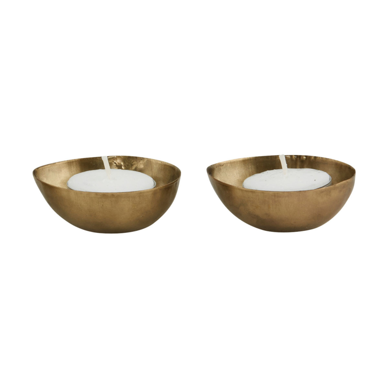 candle stand for tealight egg brass