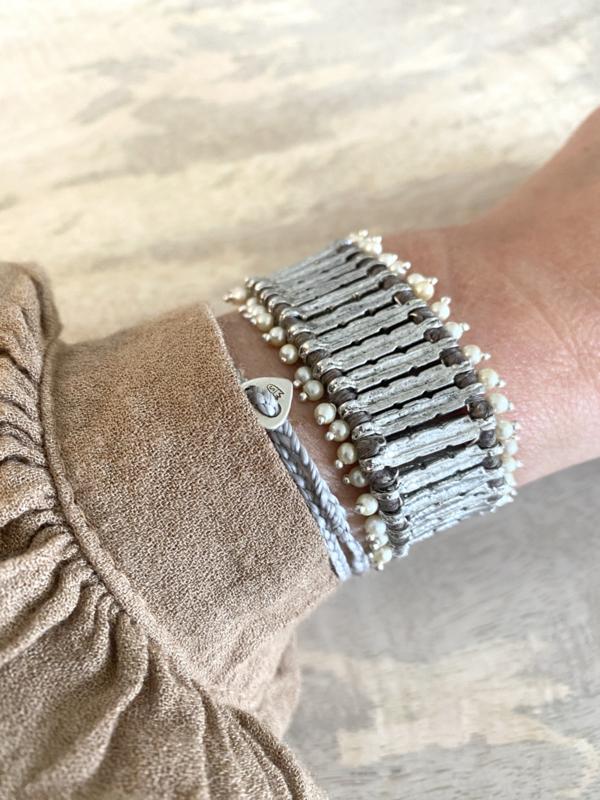 grace pearly bracelet silver