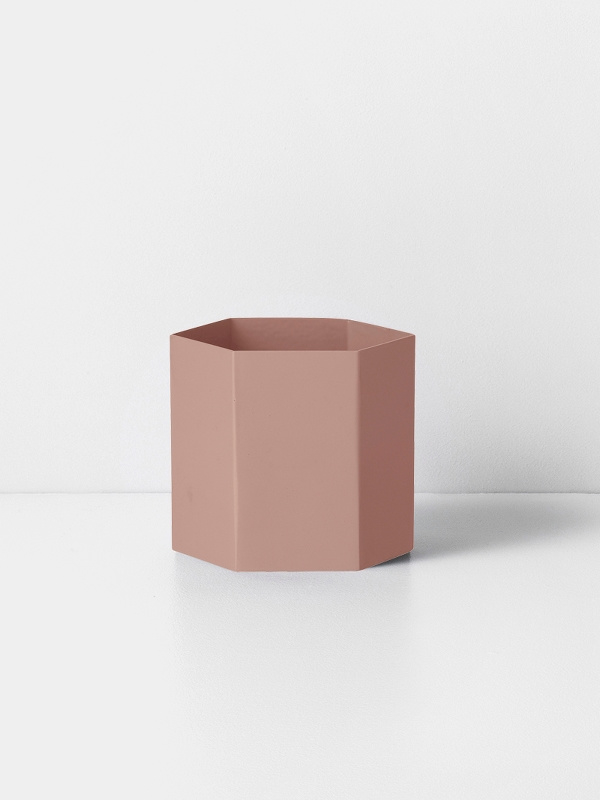 hexagon pot rose L