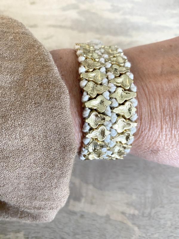 bracelet double clover white