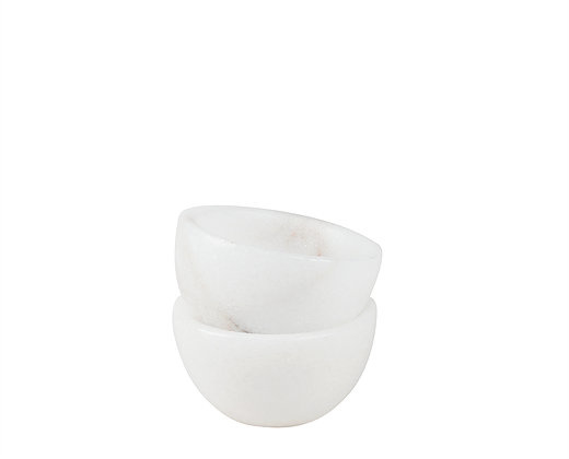 white marble spice bowl