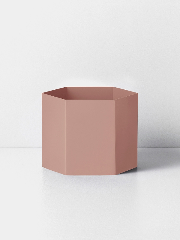 hexagon pot rose XL
