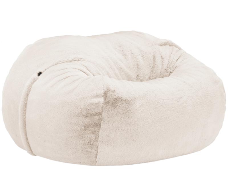 beanbag faux fur beige L