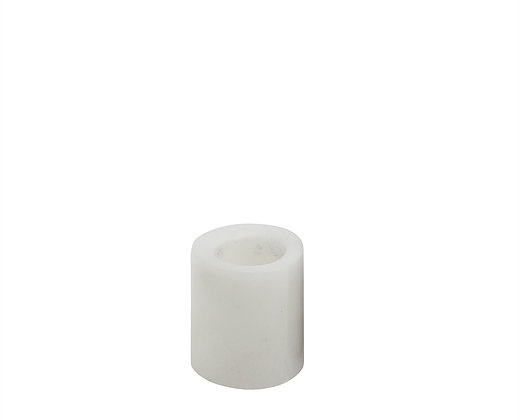 white small marble candle holder