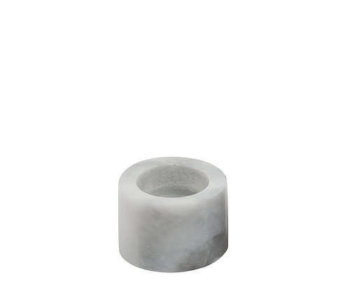 white marble tealight holder