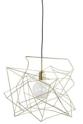 geometrische lampenkap koper