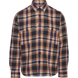 Knowledge Cotton Apparel Overshirt   Pine