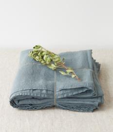 Blue Fog Washed Linen Bed Laken