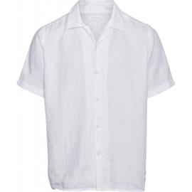 Knowledge Linnen Hawaii Shirt Wit