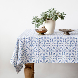 Mosaic Washed Linen Tablecloth