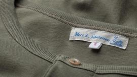 Merz b. Schwanen 1950 Long Sleeve Henley army