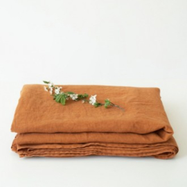 Almond Washed Linen Laken