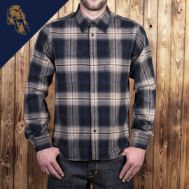 Pike Brothers Roamer Shirt Blue Beige Check Flannel