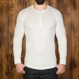 Pike Brothers Henley Shirt Off-white