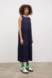 Kowtow Tier Dress Navy