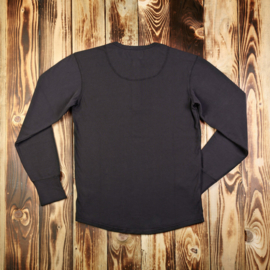 Pike Brothers Henley Shirt Black