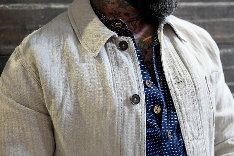 Linnen Bourgeron Jacket
