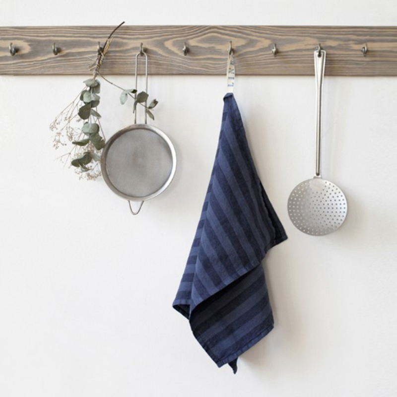 Linnen Theedoek Stripe Blue